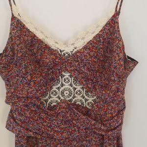 Charlotte Ronson flower slip dress